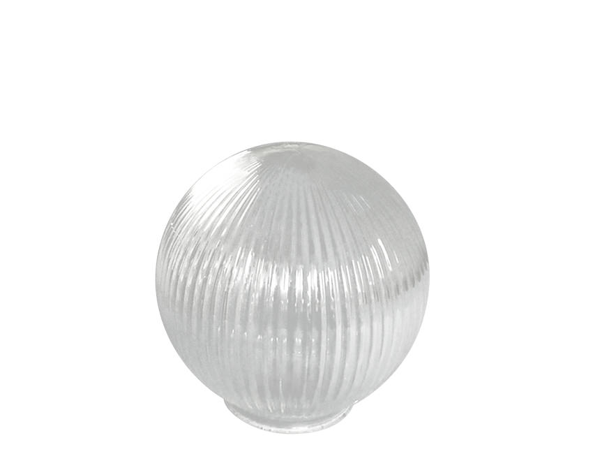 Small Round Globe Prismatic Reeded Glass Light Shade