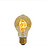 Standard size LED bulb with curly filaments