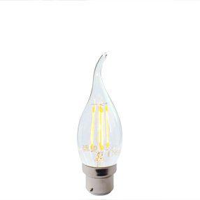 LED Bent tip BC light bulb