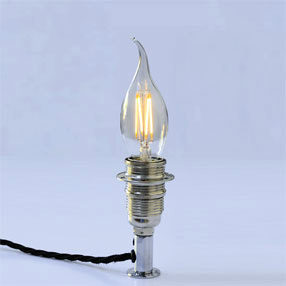 Group Photo of Candle bent tip filament small edison screw E14 lamp bulb