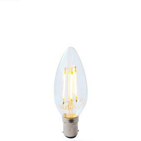 Dimmable LED filament SBC Candle bulb B15d