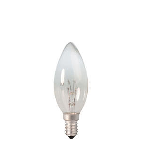 Small Clear Incandescent Candle E14 10W lamp bulb