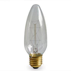Church Candle filament Edison Screw lamp bulb 60w