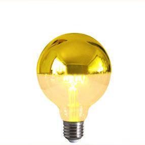 Crown Gold Reflector Cap E27 Light Bulb