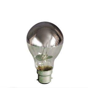 Silver Reflector Crown Cap BC light bulb