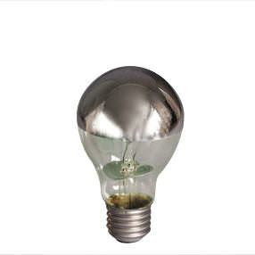 Crown Silver Reflector Cap Edison Screw light bulb