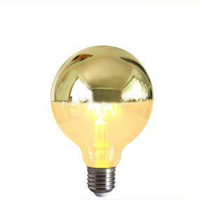 Crown Silver Reflector Cap E27 Light Bulb