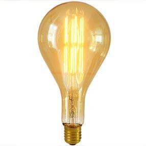 Decorative LED bulb in gold & clear