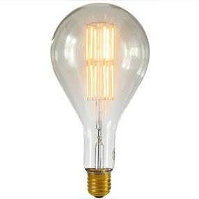 Decorative LED bulb in clear and gold