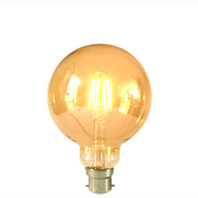 Medium Globe Gold Edison Screw squirrel cage lamp