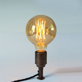 Group Photo of Aged brass table lamp threaded plate