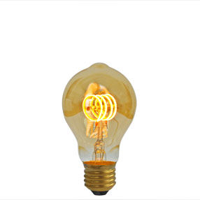 Curved Gold LED Dimmable A60DR size ES light bulb