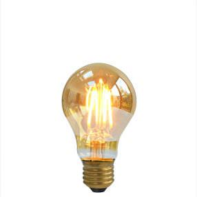 dimmable LED A60 filament gold light bulb