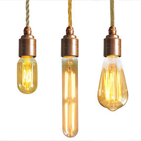 Group Photo of Vintage Gold LED Dimmable squirrel ES light bulb