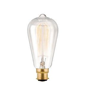 Large Vintage Squirrel filament Bayonet Cap lamp bulb