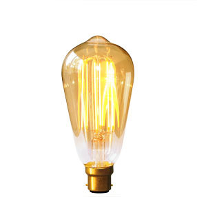 Vintage Gold LED Dimmable squirrel BC light bulb