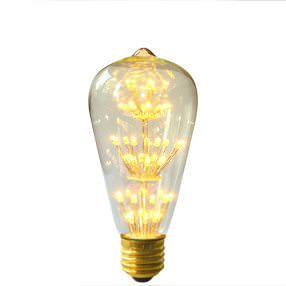 Squirrel Style LED ES ST64 Jewel light bulb