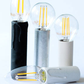Group Photo of White 2½ inch tall dripped candle tube