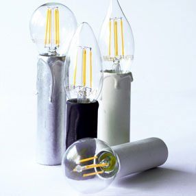 Group Photo of 85mm white card candle tube - no drips
