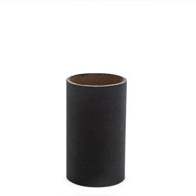 2¼ inch black chandelier candle tube without drips