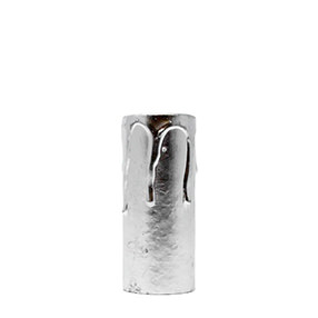 Dripped 2½ inch handpainted silver card candle tube