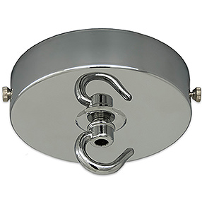 Large chrome ceiling light hook