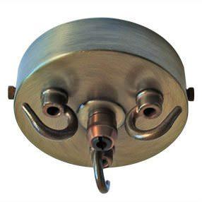 triple hook large metal ceiling plate