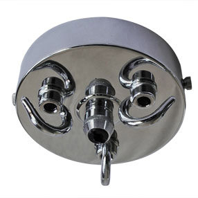 Chromed multi hooked large ceiling plate