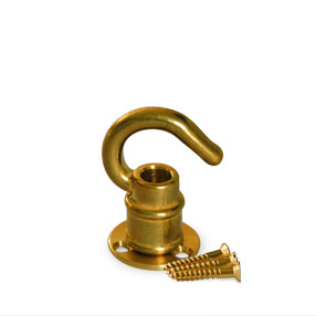 Brass mini ceiling hook and plate