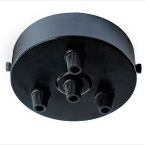Black Multi Cord Grip Ceiling Plate