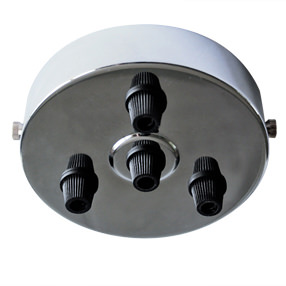 Large Chrome multi cord grip Ceiling Plate