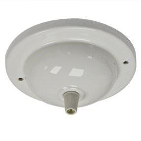 White Porcelain Ceiling Plate