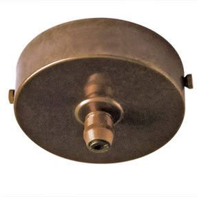 aged brass metal cord grip ceiling plate