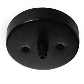 Large gloss black cord grip ceiling rose