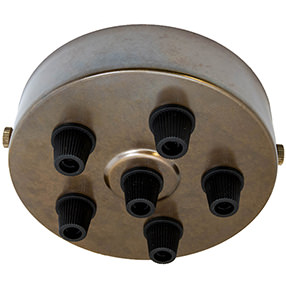 Aged Brass Multi cord grip Ceiling Plate