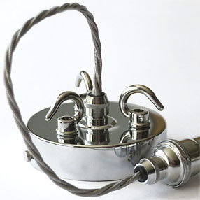 Group Photo of Chromed multi hooked large ceiling plate