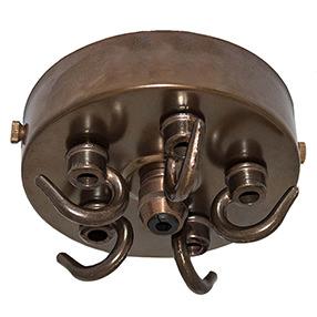 multi hook ceiling plate