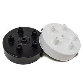 Black or White 5 outlet Ceiling Plates