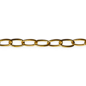 Polished brass small link ceiling bowl light chain