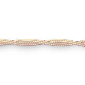 Braided Fabric Lighting Cable in Cream