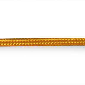 Plain overbraided 3 core electrical cable in gold