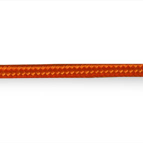 Bright orange  round three core earthed lighting cable
