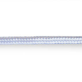 Plain over-braided 3 core silvery white lighting cable