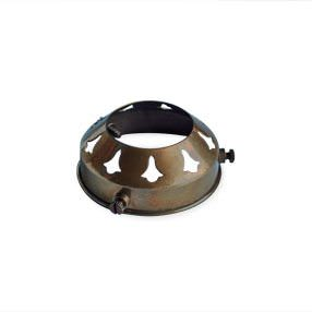 2 ¼ inch pierced metal lightshade gallery with 38mm hole