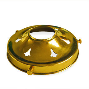 Brass ES gallery for glass shade with 5