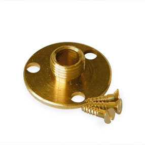 threaded metal base plate