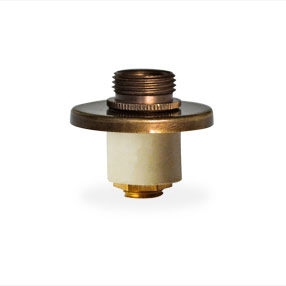 Table lamp bung 14-15mm with aged brass top plate