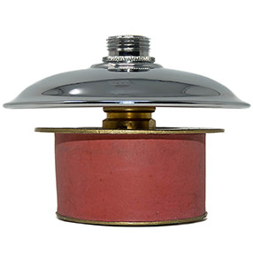 Large chrome vase bung