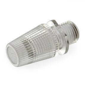 Clear plastic lampholder cord grip