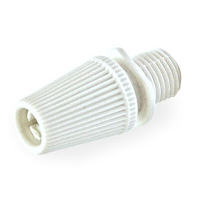 10mm White plastic light cord grip